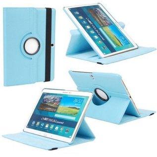Merkloos Samsung Galaxy Tab S 10.5 inch (T800 / T805) Tablet hoesje 360° draaibare Case Cover kleur Licht Blauw