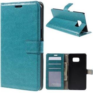 Cyclone wallet case hoesje Samsung Galaxy S7 blauw