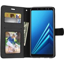 mk24 Samsung Galaxy J4 Plus (2018) portemonnee hoesje - Zwart