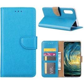 Merkloos Huawei P20 Lite Portemonnee hoesje Book case Turquise