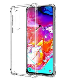 Ntech Ntech Samsung Galaxy A70 Transparant Anti Burst Hoesje / Shock Proof Crystal Clear TPU Case