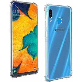 Ntech Ntech Samsung Galaxy A40 Transparant Anti Burst Hoesje / Shock Proof Crystal Clear TPU Case