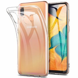 Ntech Ntech Samsung Galaxy A60 Flexibel Hard Case Crystal Clear TPU Hoesje - Transparent