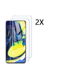 Ntech Ntech 2 Stuks Screenprotector Tempered Glass Glazen - Samsung Galaxy A80