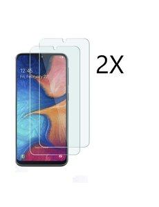 Ntech Ntech 2 Stuks Screenprotector Tempered Glass Glazen (0.3mm) - Samsung Galaxy A20e