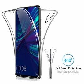 Ntech Ntech Huawei P Smart 2019 Dual TPU Case hoesje 360° Cover 2 in 1 Case ( Voor en Achter) Transparant