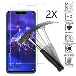 Ntech Ntech 2 Stuks Screenprotector Tempered Glass Glazen Gehard Screen Protector 2.5D 9H (0.3mm) - Huawei Mate 20 Lite