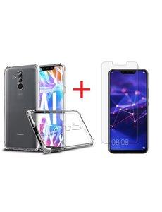 Ntech Ntech Huawei Mate 20 Lite Anti Shock Back hoesje + Glazen Screenprotector