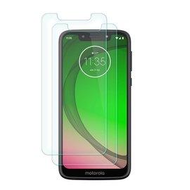 Ntech Ntech 2 Stuks Screenprotector Tempered Glass Glazen Gehard Screen Protector 2.5D 9H (0.3mm) - Motorola Moto G7 Play