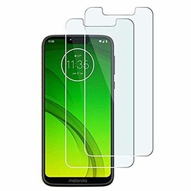 Ntech Ntech 2 Stuks Screenprotector Tempered Glass Glazen Gehard Screen Protector 2.5D 9H (0.3mm) - Motorola Moto G7 Power