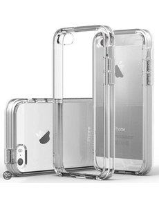 Merkloos Crystal Clear & Transparente Naked Skin Silicone Cover voor iPhone 6 / iPhone 6S (4,7)