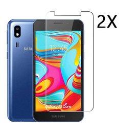 Ntech Ntech 2 Stuks Screenprotector Tempered Glass Glazen Gehard Screen Protector 2.5D 9H (0.3mm) - Samsung Galaxy A2 Core