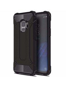 Ntech Ntech Samsung Galaxy A6 (2018) Dual layer Armor Hoesje - Zwart