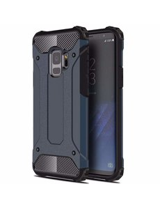 Ntech Ntech Samsung Galaxy A6 (2018) Dual layer Armor Hoesje - Blauw