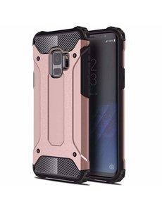Ntech Ntech Samsung Galaxy A6 (2018) Dual layer Armor Hoesje - Rose Goud
