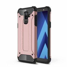 Ntech Ntech Samsung Galaxy A6+ Plus 2018 Dual layer Rugged Armor hoesje /  Hard PC & TPU Hybrid case - Rose Goud