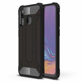 Ntech Ntech Samsung Galaxy A30 Dual layer Rugged Armor hoesje /  Hard PC & TPU Hybrid case - Zwart