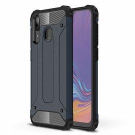 Ntech Ntech Samsung Galaxy A30 Dual layer Rugged Armor hoesje /  Hard PC & TPU Hybrid case - Blauw