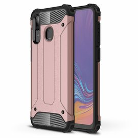 Ntech Ntech Samsung Galaxy A30 Dual layer Rugged Armor hoesje /  Hard PC & TPU Hybrid case - Rose Goud