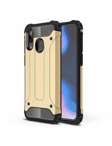 Ntech Ntech Samsung Galaxy A40 Hybride Armor Hoesje - Goud