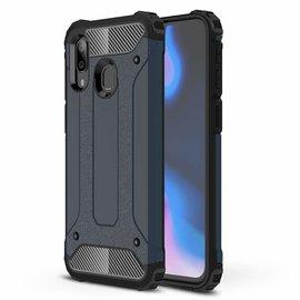 Ntech Ntech Samsung Galaxy A40 Dual layer Rugged Armor hoesje /  Hard PC & TPU Hybrid case - Blauw