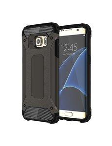 Ntech Ntech Samsung Galaxy S7 Edge Dual layer Rugged Armor Hoesje - Zwart