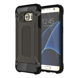 Ntech Ntech Samsung Galaxy S7 Edge Dual layer Rugged Armor hoesje /  Hard PC & TPU Hybrid case - Zwart