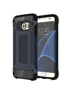 Ntech Ntech Samsung Galaxy S7 Edge Dual layer Rugged Armor Hoesje - Blauw