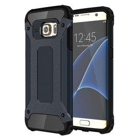 Ntech Ntech Samsung Galaxy S7 Edge Dual layer Rugged Armor hoesje /  Hard PC & TPU Hybrid case - Blauw