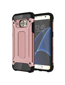 Ntech Ntech Samsung Galaxy S7 Edge Dual layer Armor hoesje - Rose Goud