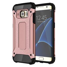 Ntech Ntech Samsung Galaxy S7 Edge Dual layer Rugged Armor hoesje /  Hard PC & TPU Hybrid case - Rose Goud