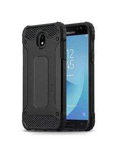 Ntech Ntech Samsung Galaxy J3 2017 Hybride Armor Hoesje - Zwart