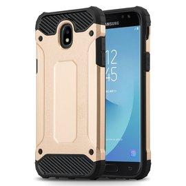 Ntech Ntech Samsung Galaxy J3 2017 Dual layer Rugged Armor hoesje /  Hard PC & TPU Hybrid case - Goud
