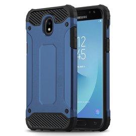 Ntech Ntech Samsung Galaxy J3 2017 Dual layer Rugged Armor hoesje /  Hard PC & TPU Hybrid case - Blauw