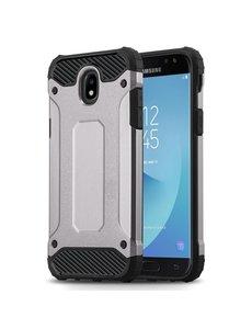 Ntech Ntech Samsung Galaxy J3 2017 Hybride Armor Hoesje - Zilver