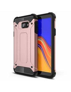 Ntech Ntech Samsung Galaxy J4+ Hybride Armor Hoesje - Rose Goud