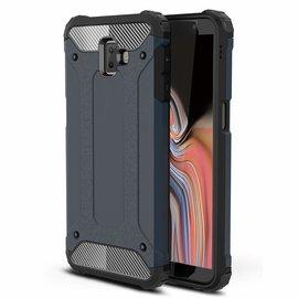 Ntech Ntech Samsung Galaxy J6+ Plus Dual layer Rugged Armor hoesje /  Hard PC & TPU Hybrid case - Blauw