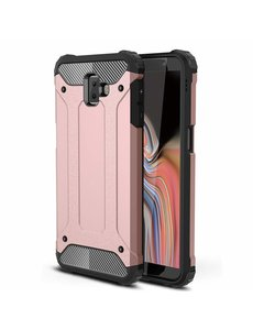 Ntech Ntech Samsung Galaxy J6+ Hybride Armor Hoesje - Rose Goud