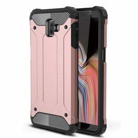 Ntech Ntech Samsung Galaxy J6+ Plus Dual layer Rugged Armor hoesje /  Hard PC & TPU Hybrid case - Rose Goud