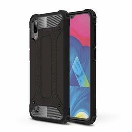 Ntech Ntech Samsung Galaxy M10 Dual layer Rugged Armor hoesje /  Hard PC & TPU Hybrid case - Zwart