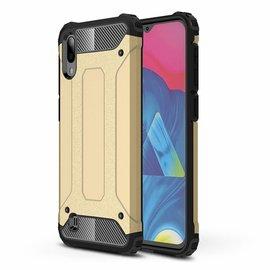 Ntech Ntech Samsung Galaxy M10 Dual layer Rugged Armor hoesje /  Hard PC & TPU Hybrid case - Goud