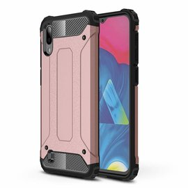 Ntech Ntech Samsung Galaxy M10 Dual layer Rugged Armor hoesje /  Hard PC & TPU Hybrid case - Rose Goud