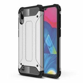 Ntech Ntech Samsung Galaxy M10 Dual layer Rugged Armor hoesje /  Hard PC & TPU Hybrid case - Zilver