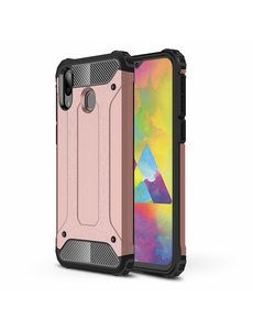 Ntech Ntech Samsung Galaxy M20 Hybride Armor hoesje - Rose Goud