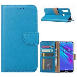 Ntech Ntech Portemonnee Hoesje/Book Case met Opbergvakjes & Magneetflapje voor Huawei Y6 2019 - Turquoise