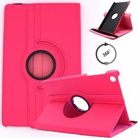 Ntech Ntech Samsung Galaxy Tab S5e SM-T720/T725 Draaibaar Hoesje 360 Rotating Multi stand Case - Roze/Pink