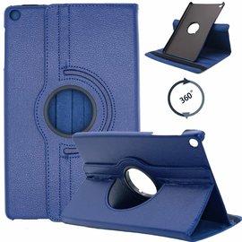 Ntech Ntech Samsung Galaxy Tab S5e SM-T720/T725 Draaibaar Hoesje 360 Rotating Multi stand Case - Donker Blauw