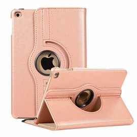 Ntech Ntech Apple iPad Mini 2019 Draaibaar Hoesje 360 Rotating Multi stand Case - Rose Goud