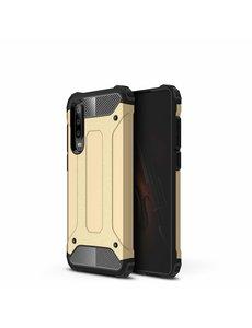 Ntech Ntech Huawei P30 Dual layer Armor Hoesje - Goud