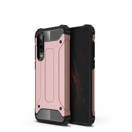 Ntech Ntech Huawei P30 Dual layer Rugged Armor hoesje /  Hard PC & TPU Hybrid case - Rose Goud
